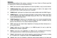 Amazing Addendum To Lease Agreement Template