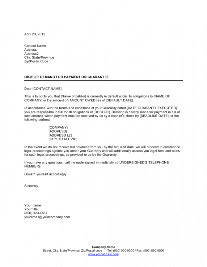 Amazing Guaranteed Payment Agreement Template