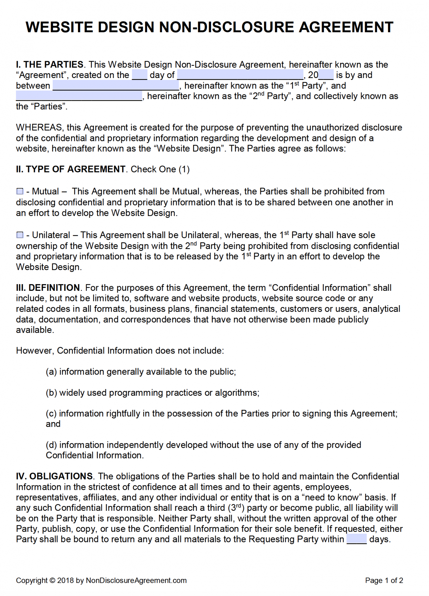 Amazing No Competition Agreement Template