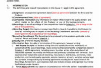Amazing Service License Agreement Template