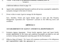 Awesome Business Management Agreement Template