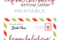 Awesome Elf On The Shelf Arrival Letter Template