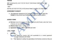 Best Standard Services Agreement Template