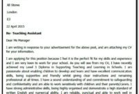 Best Teaching Assistant Cover Letter Template