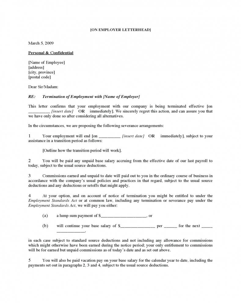 Best Voluntary Employment Separation Agreement Template