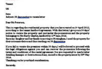 Fantastic 30 Day Notice Lease Termination Letter Template