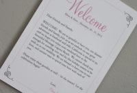 Fantastic Destination Wedding Welcome Letter Template