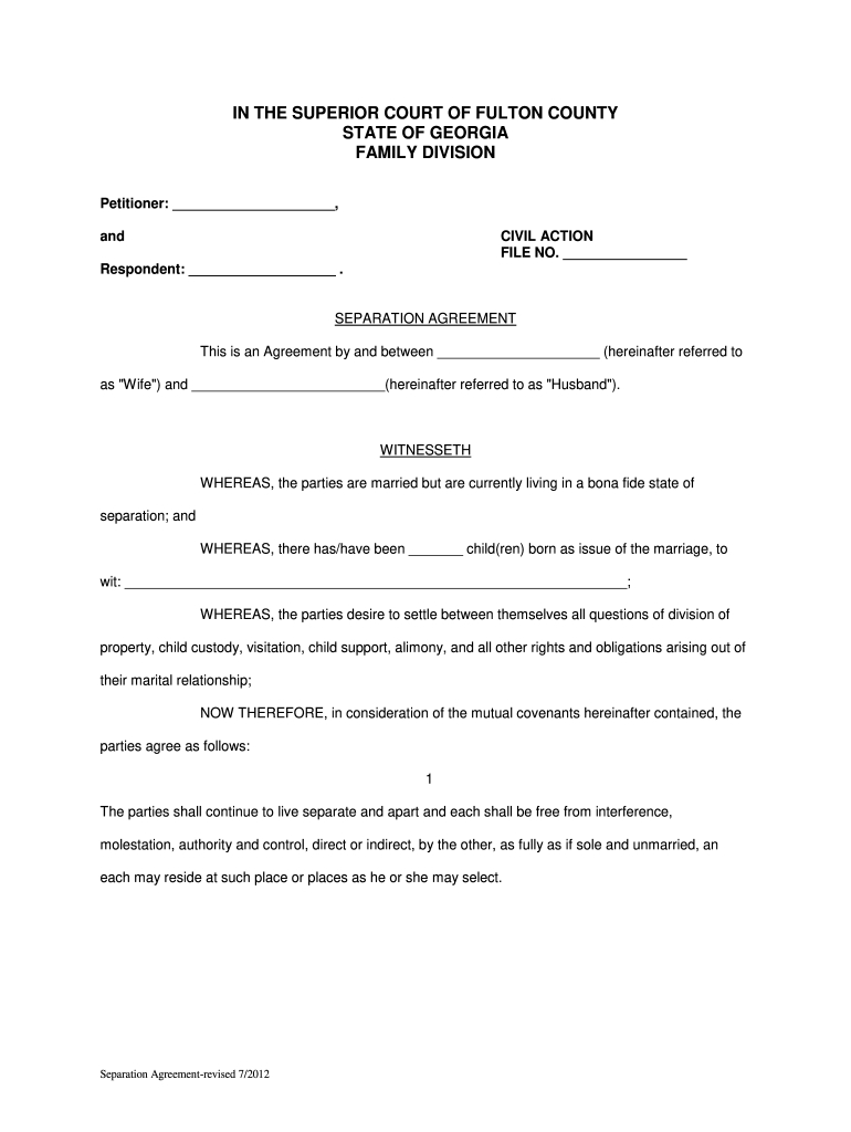 Fantastic Maryland Separation Agreement Template
