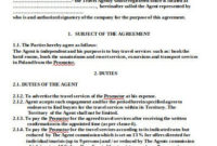 Fantastic Travel Service Agreement Template