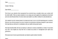 Free Warning Letter Format For Employee