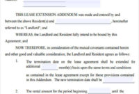 Fresh Addendum To Lease Agreement Template