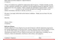 Fresh Letter Of Employment Verification Template