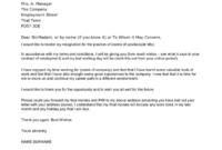 Fresh Quitting Letter Template