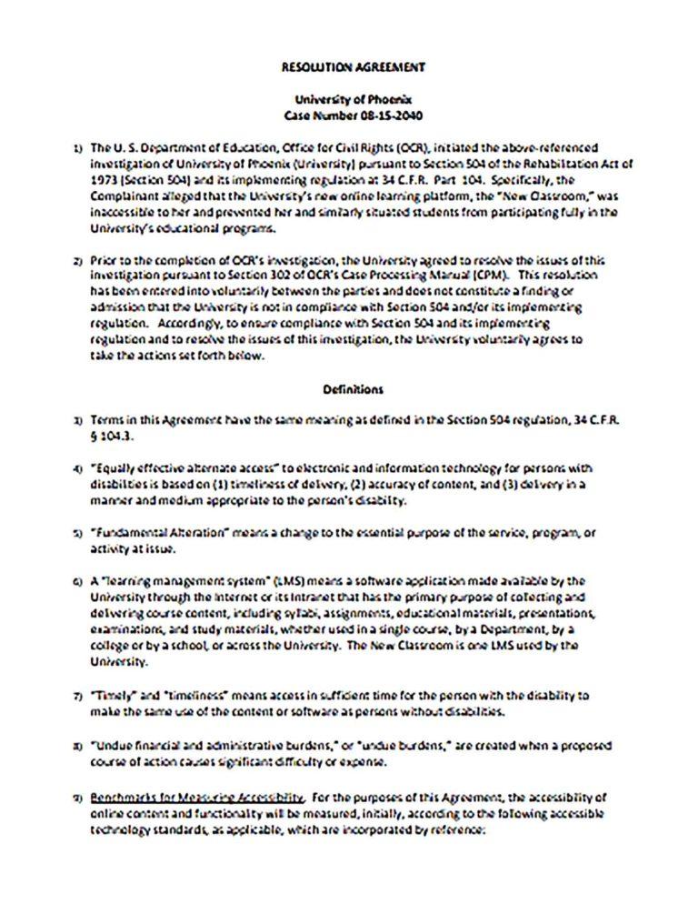 Fresh Resolution Agreement Template