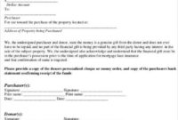 New Mortgage Gift Letter Template