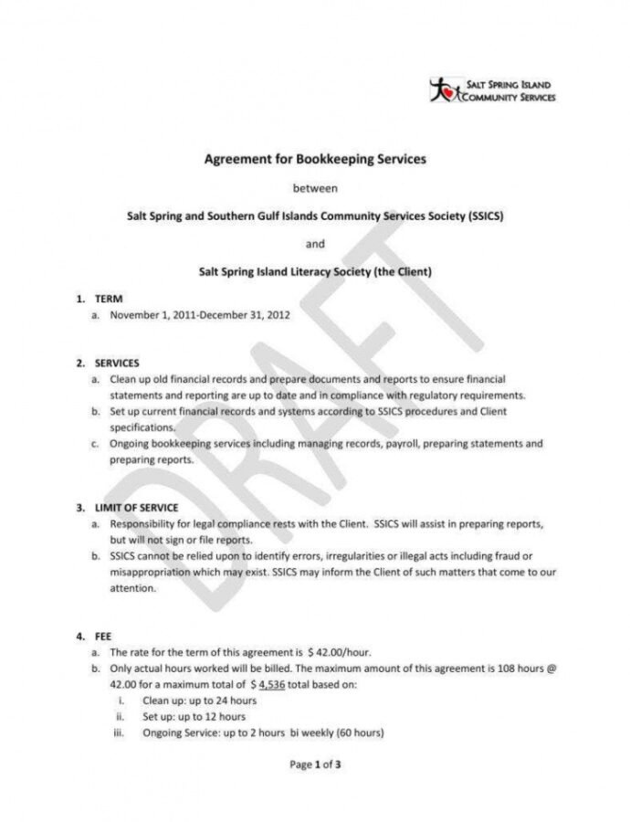 Professional Accounting Service Agreement Template