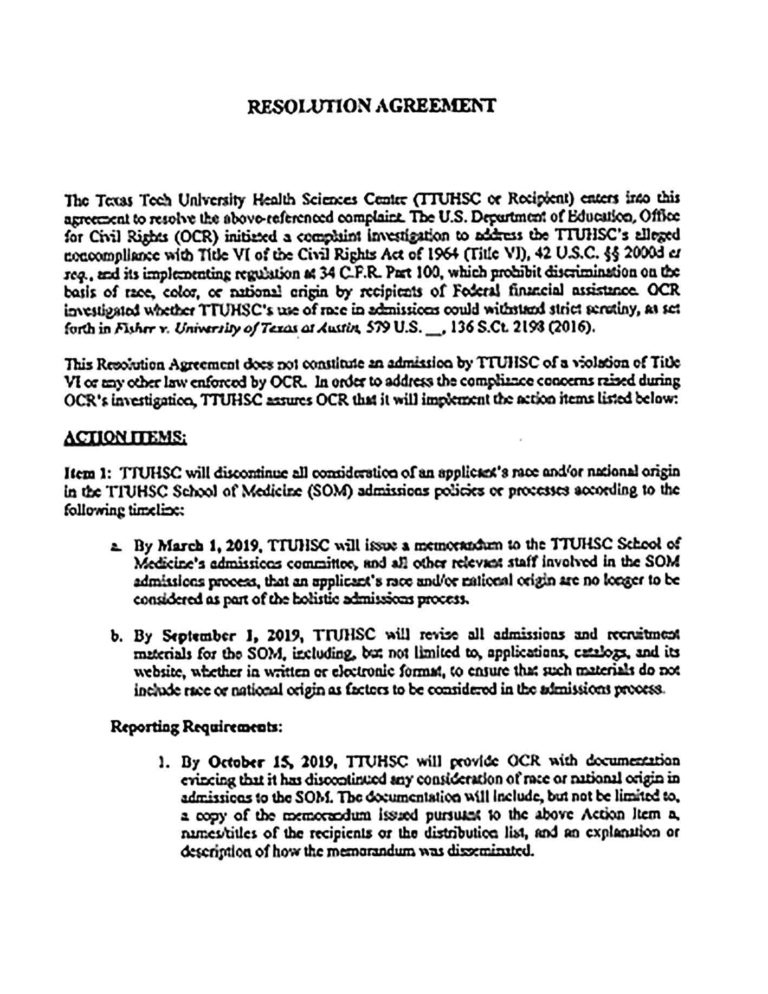 Professional Resolution Agreement Template