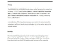 Simple Accounting Service Agreement Template