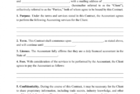 Stunning Accounting Service Agreement Template