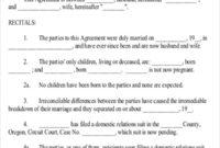 Stunning Divorce Financial Settlement Agreement Template