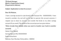 Top Account Closure Letter Template