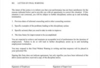 Top Warning Letter Format For Employee