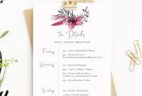 Amazing Bachelorette Weekend Itinerary Template
