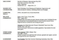 Amazing Sports Management Resume Template