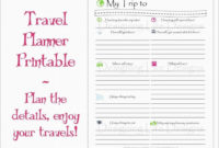 Awesome Professional Travel Itinerary Template