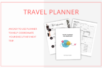 Best Executive Assistant Travel Itinerary Template