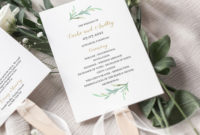 Best Wedding Welcome Itinerary Template