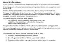 Fantastic Crisis Management Policy Template
