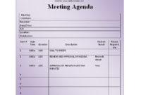 Fantastic Simple Meeting Agenda Template