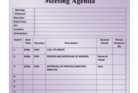 Fascinating Agenda And Meeting Minutes Template