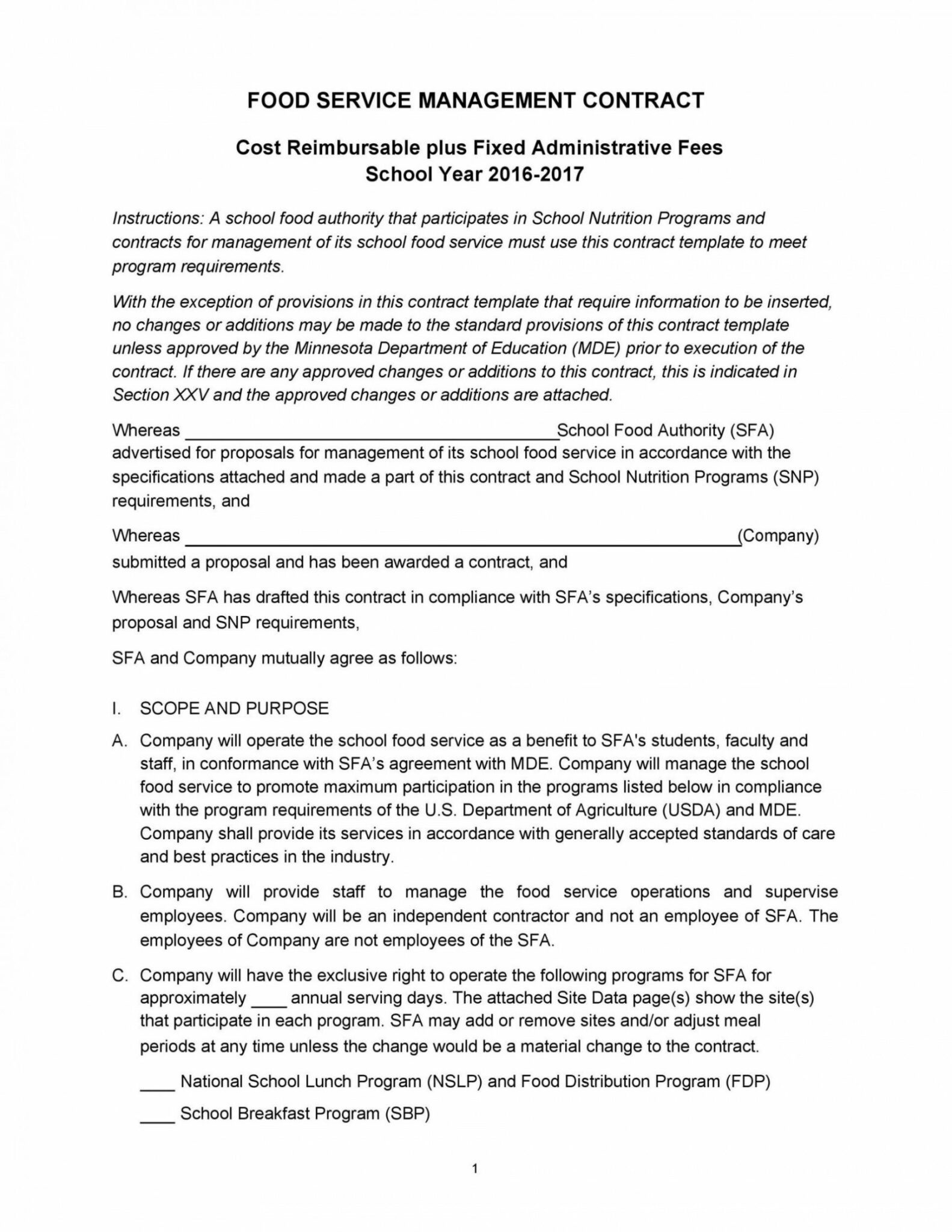 Free Artist Management Contracts Template