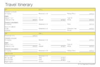 Free Group Travel Itinerary Template