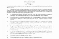 Fresh Artist Management Contracts Template