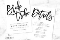 Fresh Bridal Shower Itinerary Template