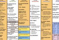 Fresh Summer Camp Agenda Template