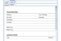 New Fun Meeting Agenda Template