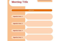 Professional Agenda And Meeting Minutes Template