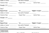 Professional Travel Agent Itinerary Template