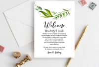 Professional Wedding Welcome Bag Itinerary Template