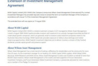 Simple Asset Management Agreement Template
