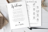 Simple Wedding Welcome Itinerary Template