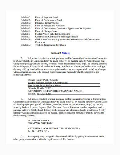 Stunning Building Management Contract Template