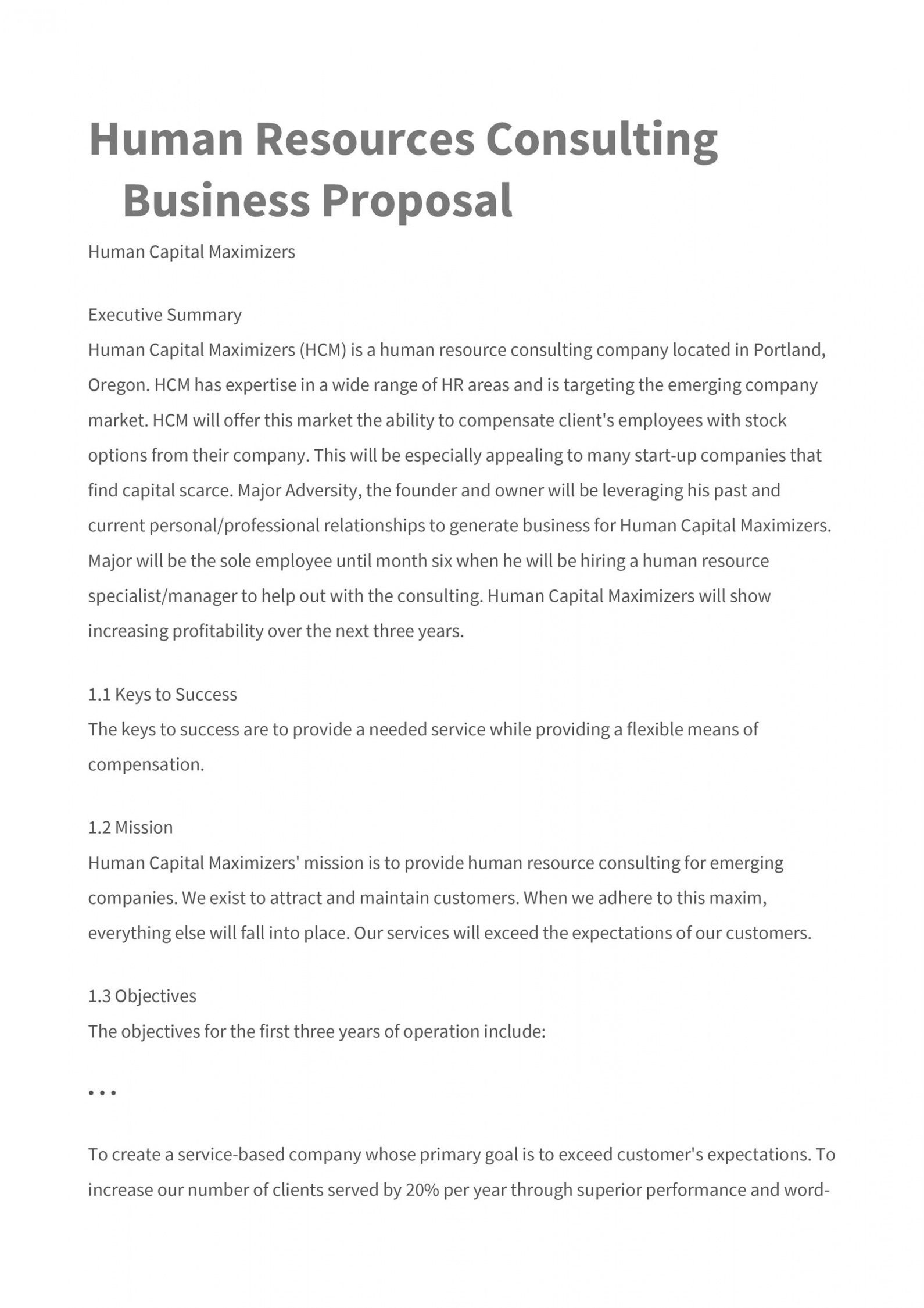 Stunning Management Consulting Proposal Template
