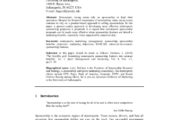 Stunning Sports Management Contract Template
