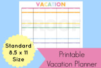 Stunning Vacation Itinerary Planner Template