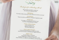 Stunning Wedding Welcome Itinerary Template
